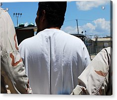 U.s. Sailors Escort A Detainee To An Acrylic Print by Everett