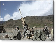 U.s. Soldiers Prepare To Fire Acrylic Print by Stocktrek Images