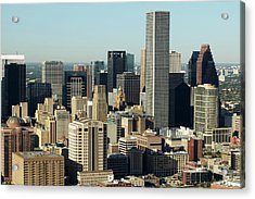 Usa, Texas, Houston, Dwontown, Aerial View Acrylic Print by George Doyle