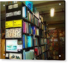Acrylic Print featuring the photograph Used Books - Dream On by MJ Olsen