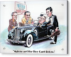 Used Car Salesmen Acrylic Print by Harry West