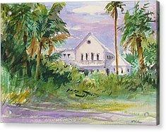 Usepa Island House Acrylic Print by Heidi Patricio-Nadon