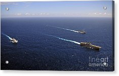 Uss Boxer, Uss Comstock And Uss Green Acrylic Print by Stocktrek Images
