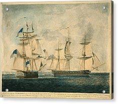 Uss Chesapeake Vs. Hms Shannon Acrylic Print by Everett