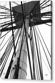 Uss Constitution Mast Acrylic Print by David Yunker