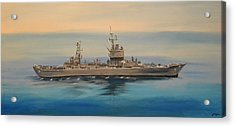 Uss Long Beach Acrylic Print