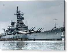 Uss New Jersey Acrylic Print by Jennifer Ancker