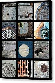 Utilities Acrylic Print by Marlene Burns