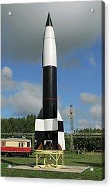 V-2 Rocket Display, Peenemunde Acrylic Print by Detlev Van Ravenswaay