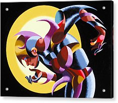 Acrylic Print featuring the painting V. Nixie 12-01 by Mark Webster