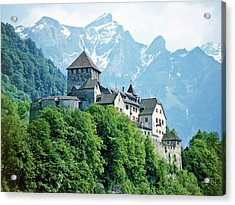 Vaduz Castle Lichtenstein Acrylic Print by Joseph Hendrix