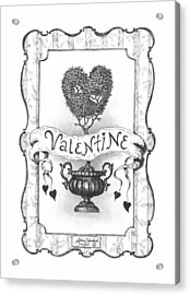 Valentine Acrylic Print by Adam Zebediah Joseph