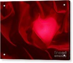 Valentine Heart Acrylic Print by Tony Cordoza