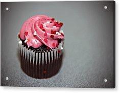 Valentines Cupcake Acrylic Print
