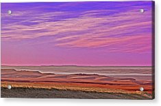 Valley Glow Acrylic Print by Jim Justinick