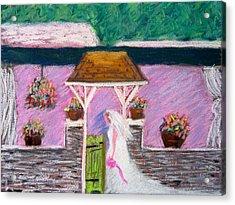 Valley Green Bride Acrylic Print by Marita McVeigh