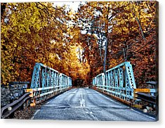 Valley Green Road Bridge In Autumn Acrylic Print