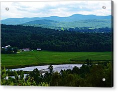 Valley Maine Acrylic Print by Josee Dube