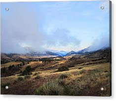 Valley Mist Acrylic Print by Ric Soulen