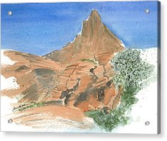 Valley Of Fire - Sketch II Acrylic Print