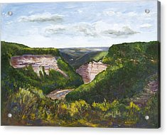 Acrylic Print featuring the painting Valley Prayer by George Richardson