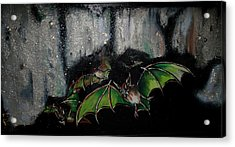 Acrylic Print featuring the painting Vampire Bats  by Nada Meeks