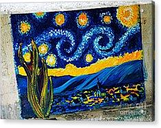 Van Gogh Graffiti Acrylic Print
