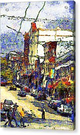 Van Gogh Takes The Right Turn And Rediscovers The Castro In San Francisco . 7d7572 Acrylic Print by Wingsdomain Art and Photography