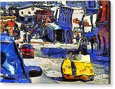 Van Gogh Tours The Streets Of San Francisco 7d14100 Acrylic Print by Wingsdomain Art and Photography