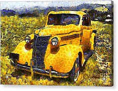 Van Gogh.s Old Ride 7d15315 Acrylic Print by Wingsdomain Art and Photography