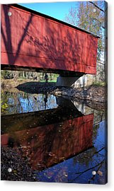 Acrylic Print featuring the photograph Van Sant Covered Bridge by Steven Richman