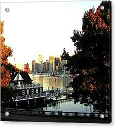 Vancouver At Sundown Acrylic Print by Will Borden