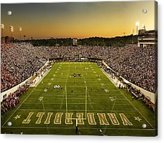 Vanderbilt Endzone View Of Vanderbilt Stadium Acrylic Print by Vanderbilt University