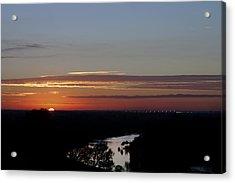Acrylic Print featuring the photograph Vanishing Sunset by Maj Seda