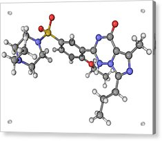 Vardenafil Erectile Dysfunction Drug Acrylic Print by Laguna Design