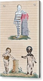 Varieties In The Human Species, Artwork Acrylic Print by General Research Division New York Public Library