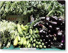Variety Of Fresh Vegetables - 5d17828 Acrylic Print by Wingsdomain Art and Photography