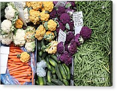 Variety Of Fresh Vegetables - 5d17900 Acrylic Print by Wingsdomain Art and Photography