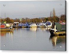 Various Boats At Barton Marina Acrylic Print by Rod Johnson