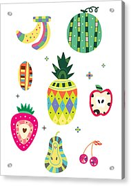 Various Kinds Of Fruit Acrylic Print by Eastnine Inc.