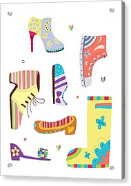Various Kinds Of Shoes Acrylic Print