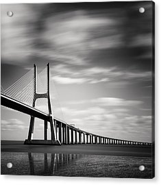 Vasco Da Gama Bridge IIi Acrylic Print by Nina Papiorek