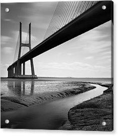 Vasco Da Gama Bridge Iv Acrylic Print