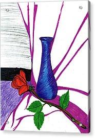 Vase Acrylic Print by Harry Richards