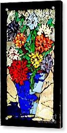 Vase Of Flowers Acrylic Print by Brenda Marik-schmidt