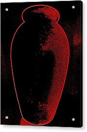 Vase On Black Acrylic Print by Randall Weidner