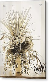 Vase With Flowers On A Window Table Acrylic Print