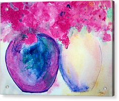 Vases Of Beauty Acrylic Print by Alethea McKee