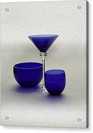 Vases Of Blue Acrylic Print by Gennadiy Titkov