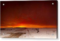 Vast Sunset Acrylic Print by Cale Best